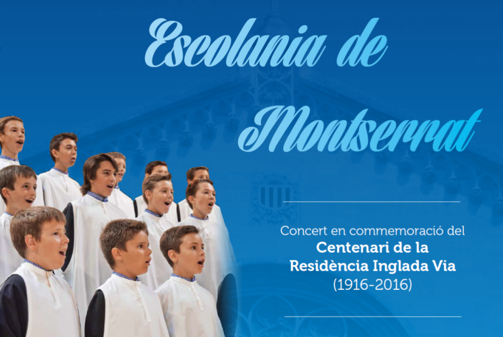 L'Escolania de Montserrat canta a Vilafranca per celebrar el Centenari de la Residència Inglada Via
