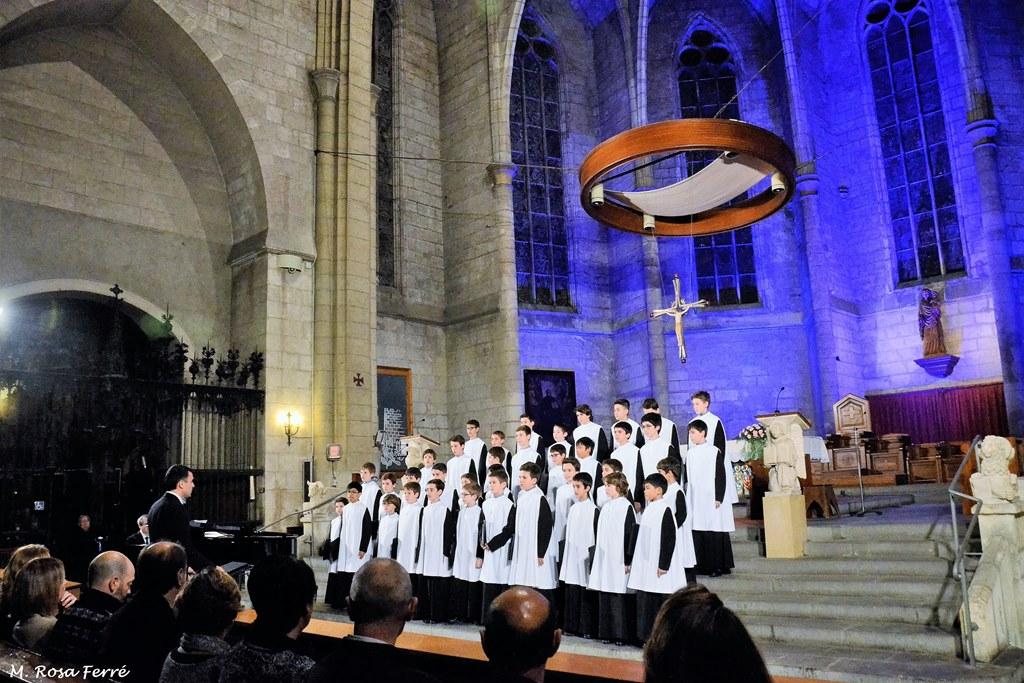 Multitudinari concert de l'Escolania de Montserrat a Vilafranca