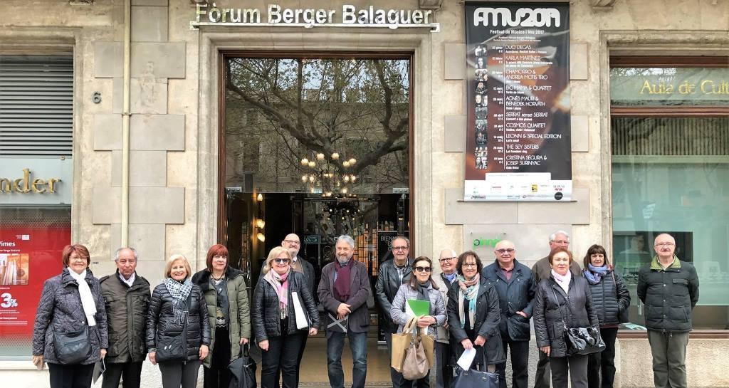 El Club Sènior del Casal de Vilafranca visita l'exposició del Fòrum Berger Balaguer