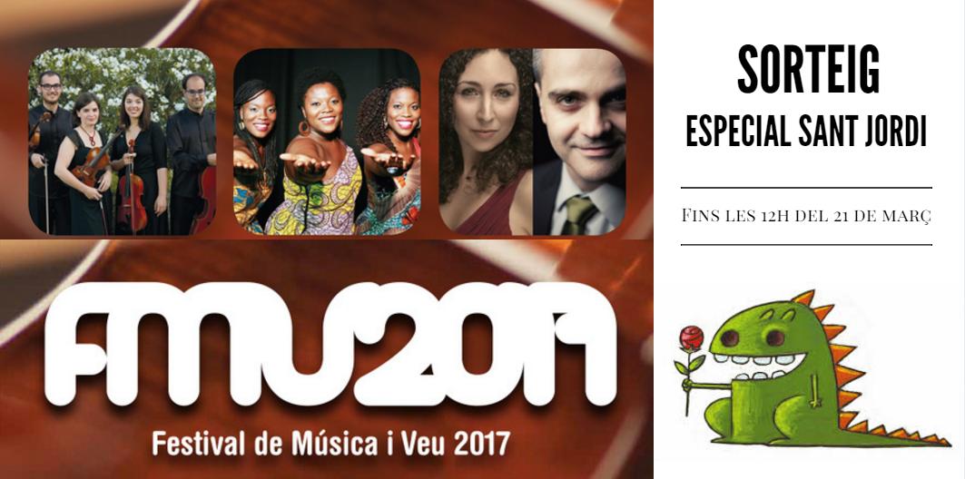 Guanya el regal perfecte per Sant Jordi amb el #festivaldemusicaiveu!