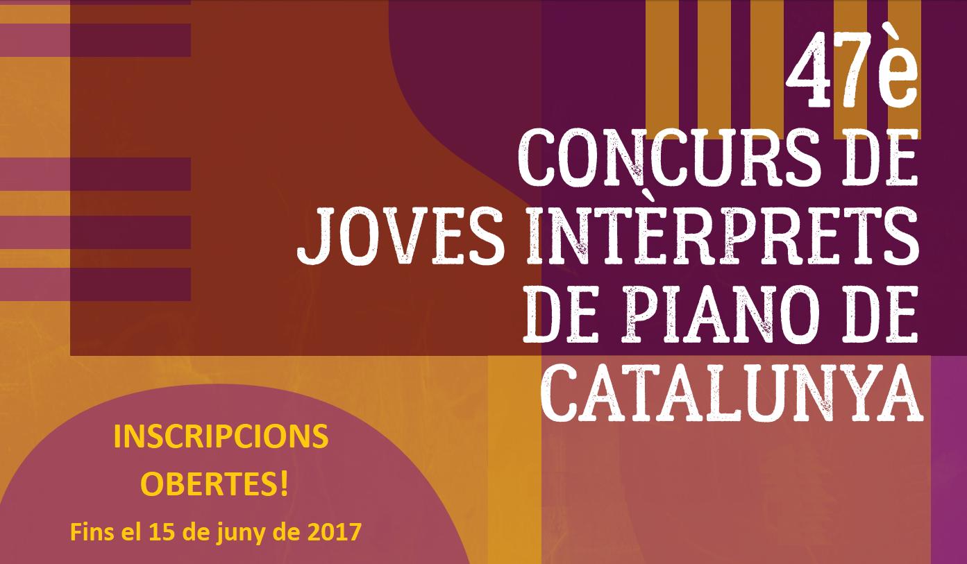 Inscripcions obertes pel al 47è Concurs de Joves Intèrprets de Piano