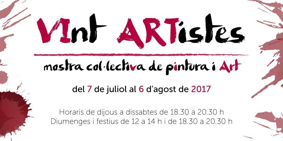 VInt ARTistes exposen les seves obres al Fòrum Berger Balaguer
