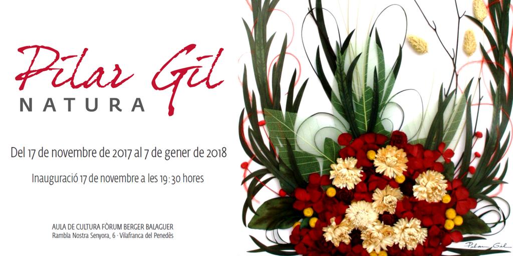 La Natura de Pilar Gil s'exposa al Fòrum Berger Balaguer