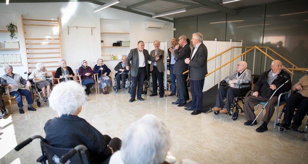 La Residència Inglada Via va inaugurar oficialment la nova sala de fisioteràpia