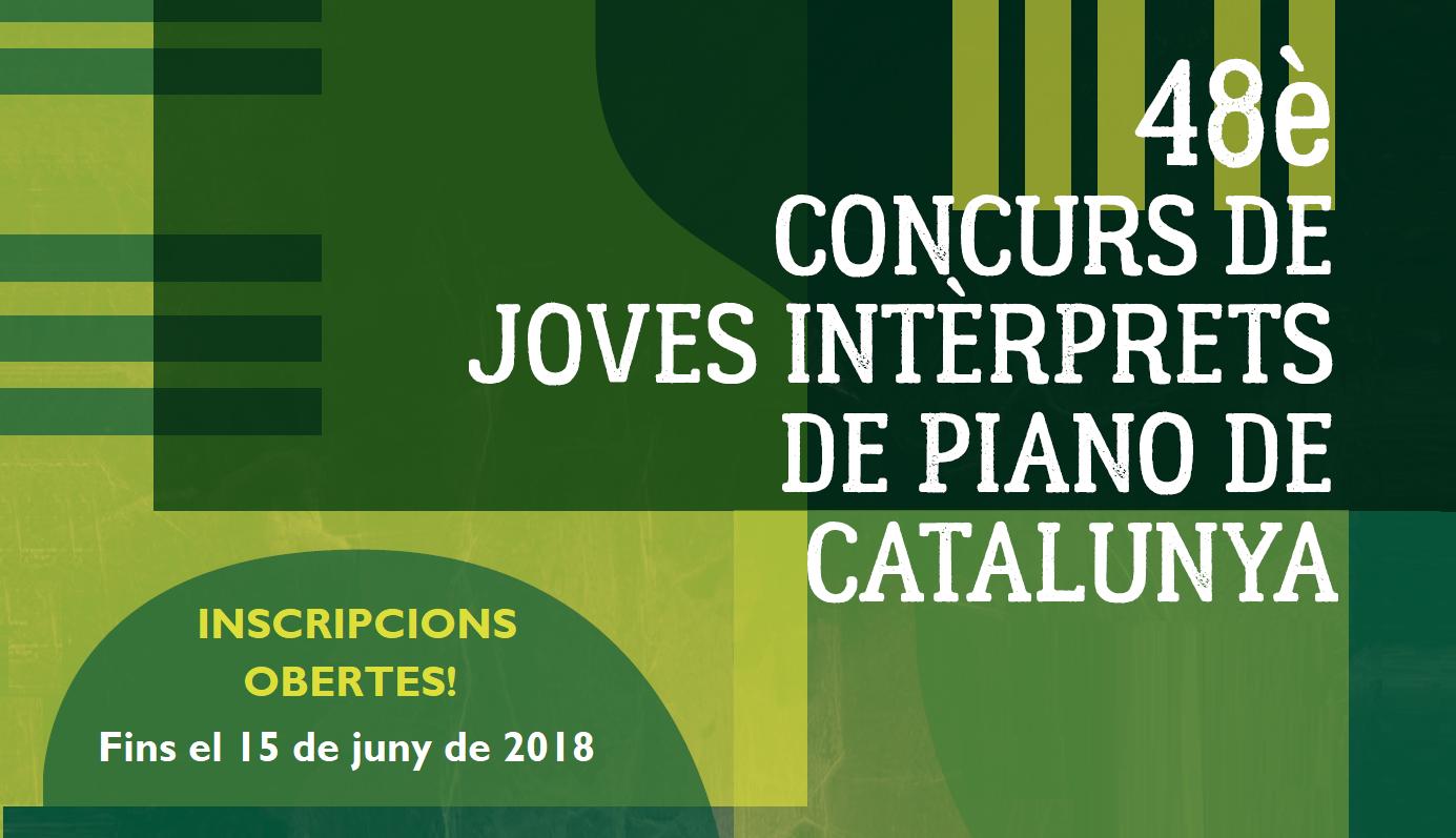 Nova edició del Concurs de Joves Intèrprets de Piano de Catalunya