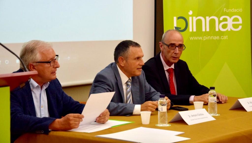 D'esquerra a dreta: Sr. Antoni Gistau, Sr. Pere Regull i Sr. Martí Solé