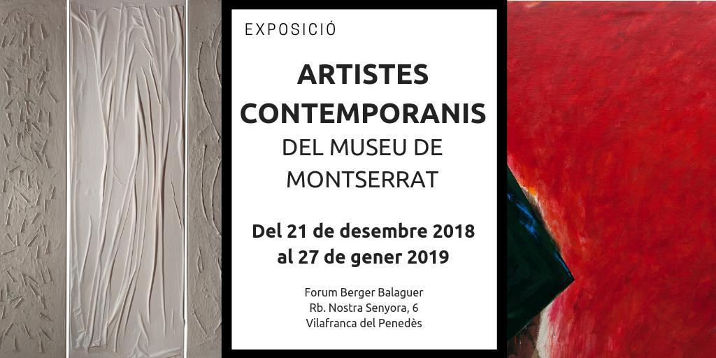 L'Art Contemporani del Museu de Montserrat s'exposa al Fòrum Berger Balaguer