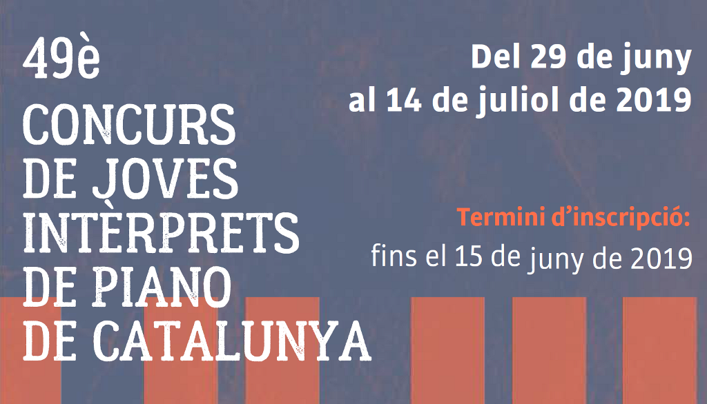 S'obre el període d'inscripcions del 49 Concurs de Joves Intèrprets de Piano de Catalunya