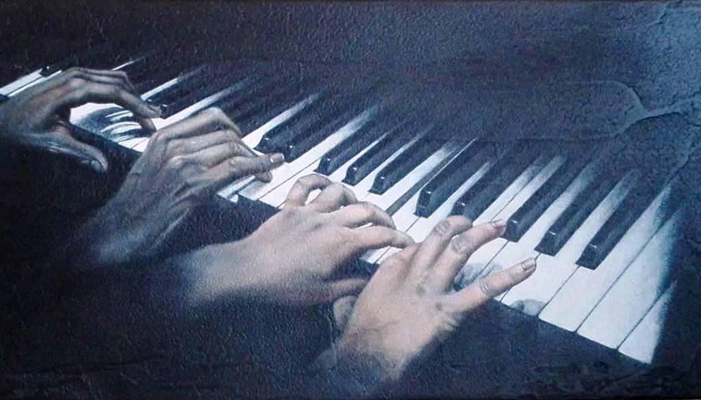 """Exposició de pintures de """"Canano"""" Sintetitzant Essències – el món màgic de la Música"""