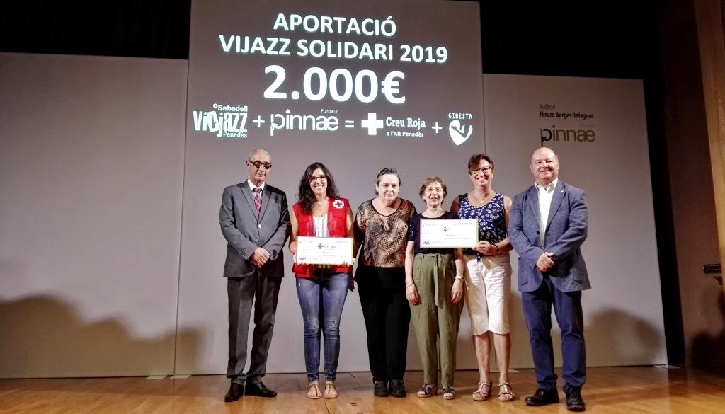 Fundació Pinnae i Tastavins Penedès uneixen esforços per aconseguir un Vijazz més solidari