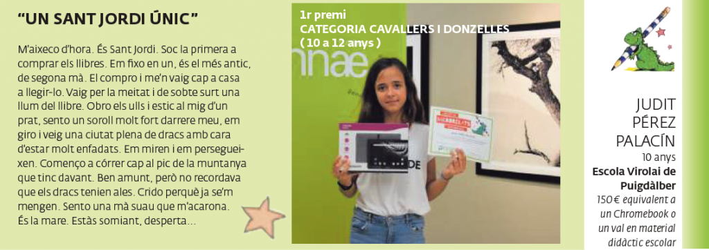 1r premi CATEGORIA CAVALLERS I DONZELLES (10 a 12 anys)