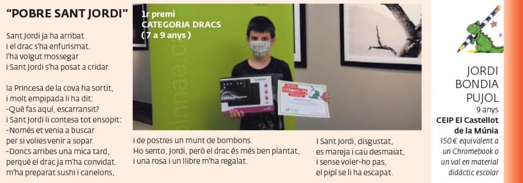 1r premi CATEGORIA DRACS (7 a 9 anys)