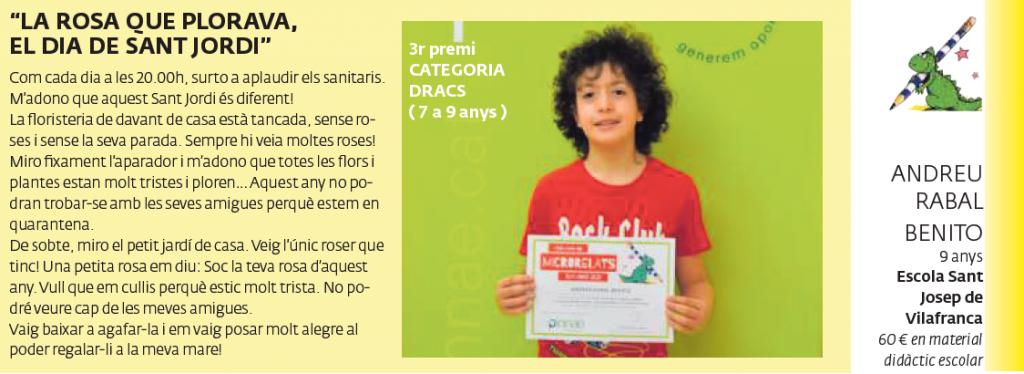 3r premi CATEGORIA DRACS (7 a 9 anys)